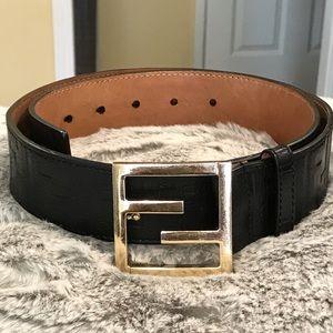 Authentic Fendi Zucca leather belt